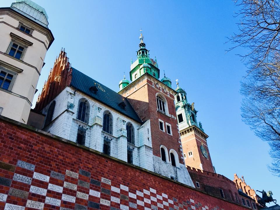 Walking up Wawel hill