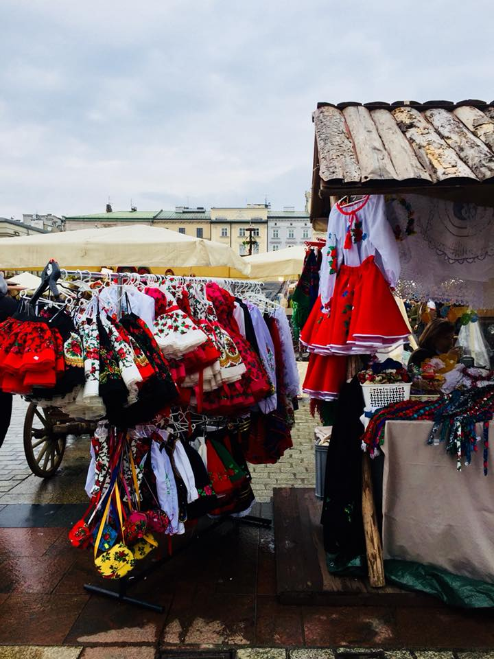 Traditional clothing at the Easter market
