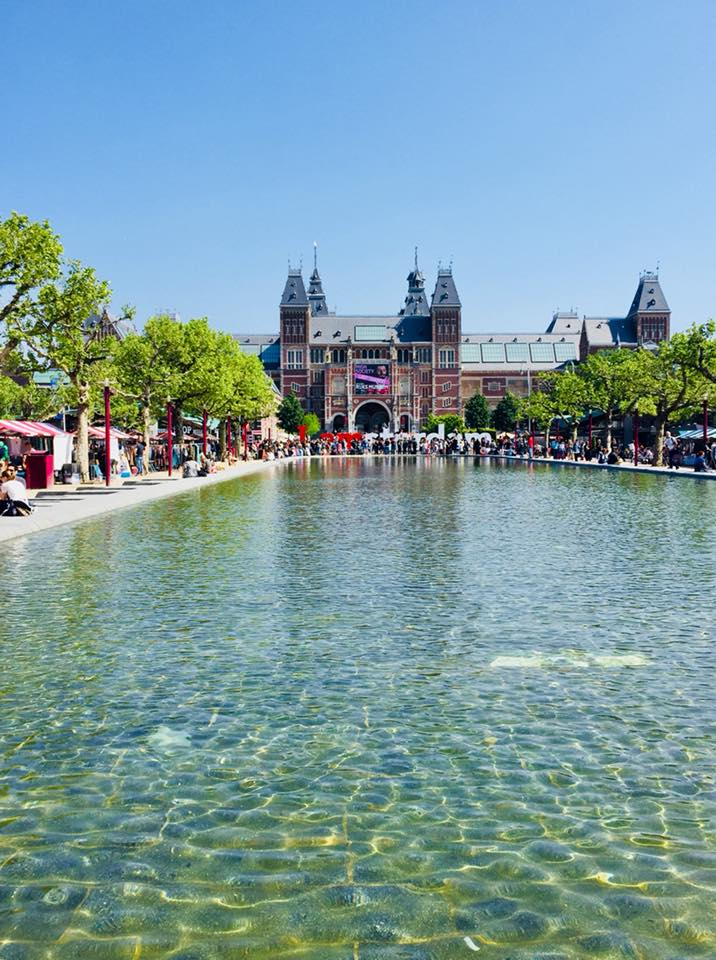 Looking over the water to the Rijksmuseum