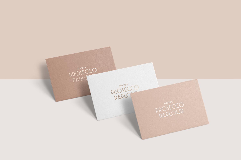Petit Prosecco Parlour Business Card Design