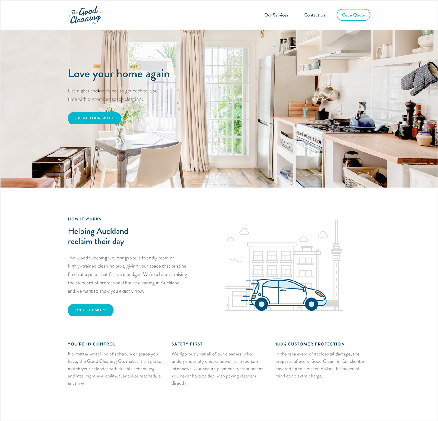 The Good Cleaning Company Brand & Website Design 1