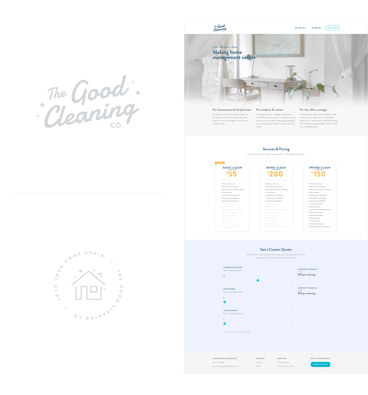 The Good Cleaning Company Brand & Website Design 2