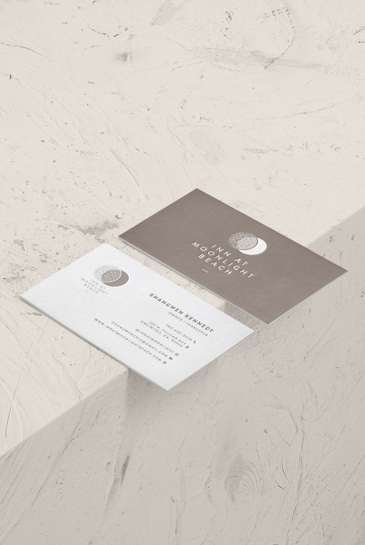 Inn At Moonlight Beach Business Card Design 2