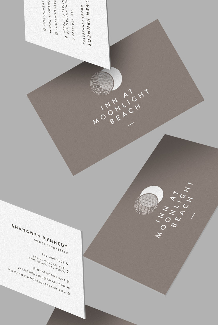 Inn At Moonlight Beach Business Card Design 3