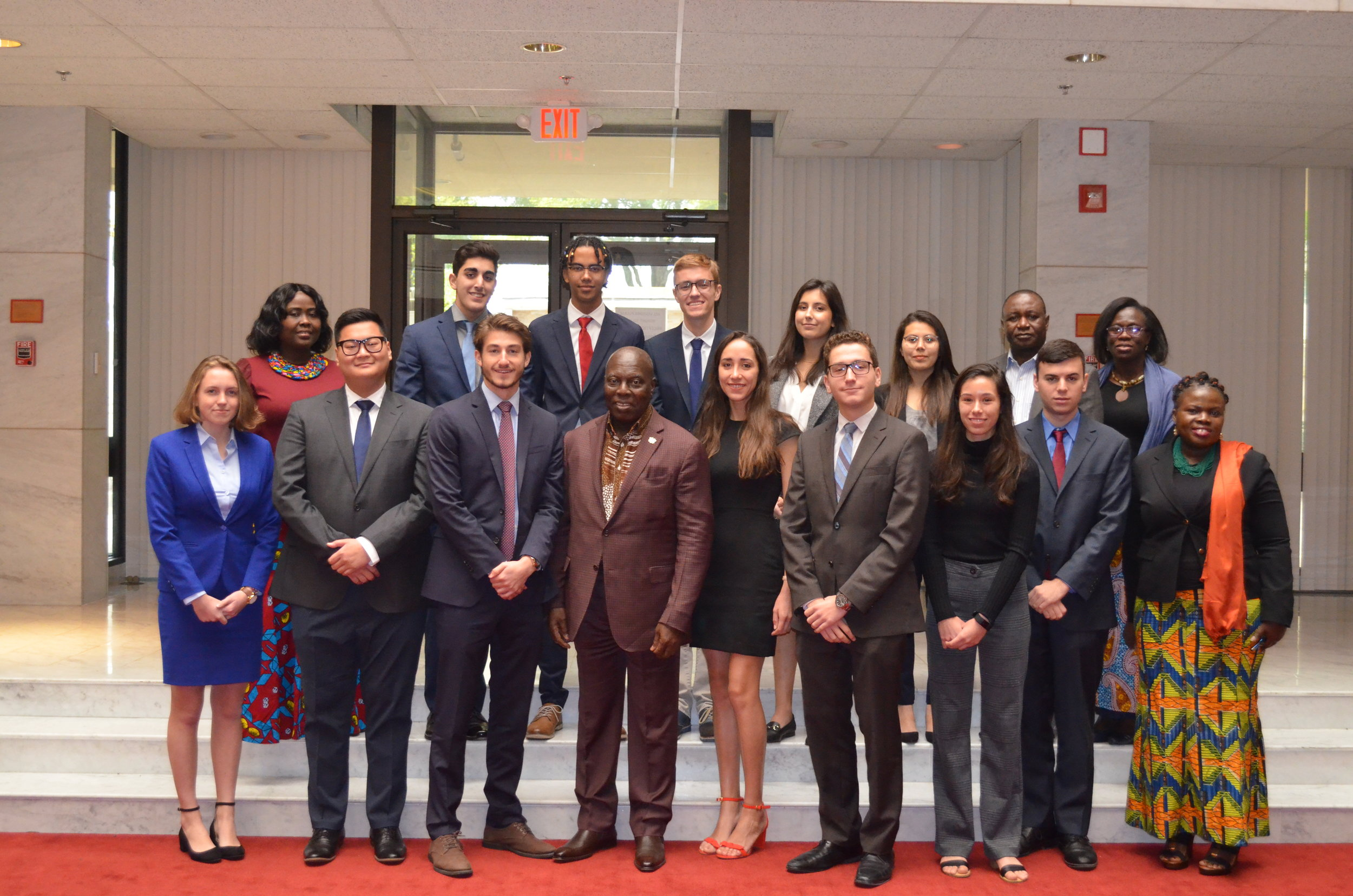 Student Diplomats team conducts roundtable discussion at the Embassy of Ghana with Ambassador Adjei-Barwuah