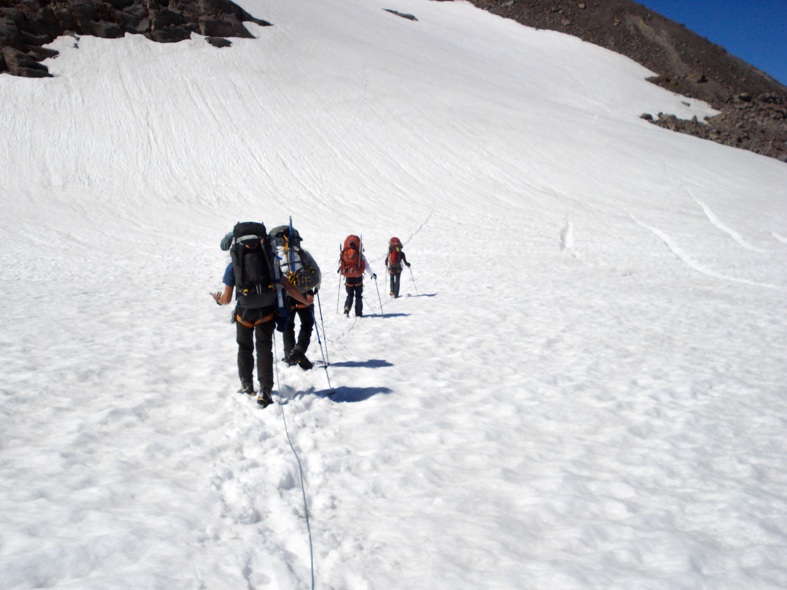 Crossing the glacier on the 1st day to get to camp