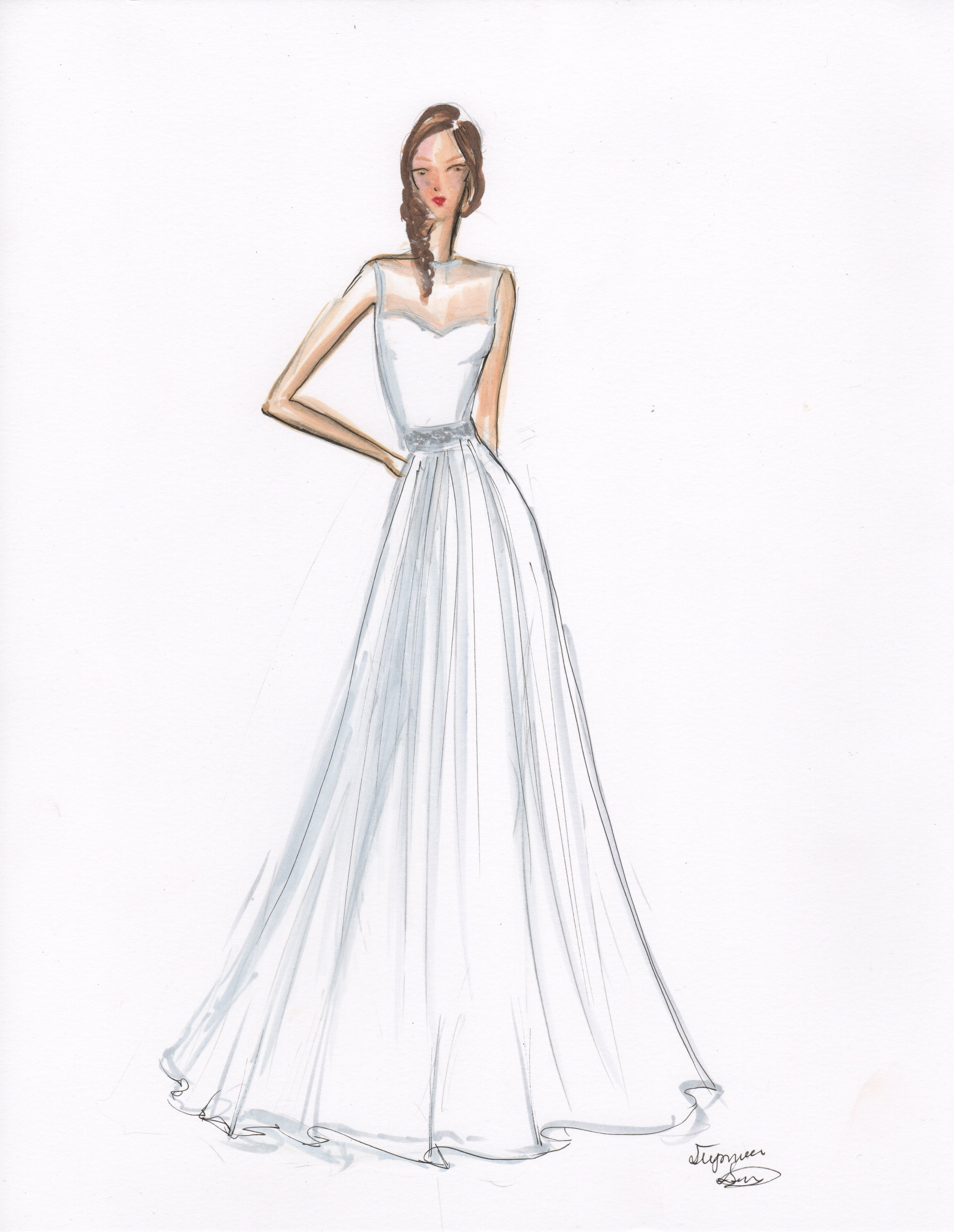 Marker Rendered. Featured in TK Bridal