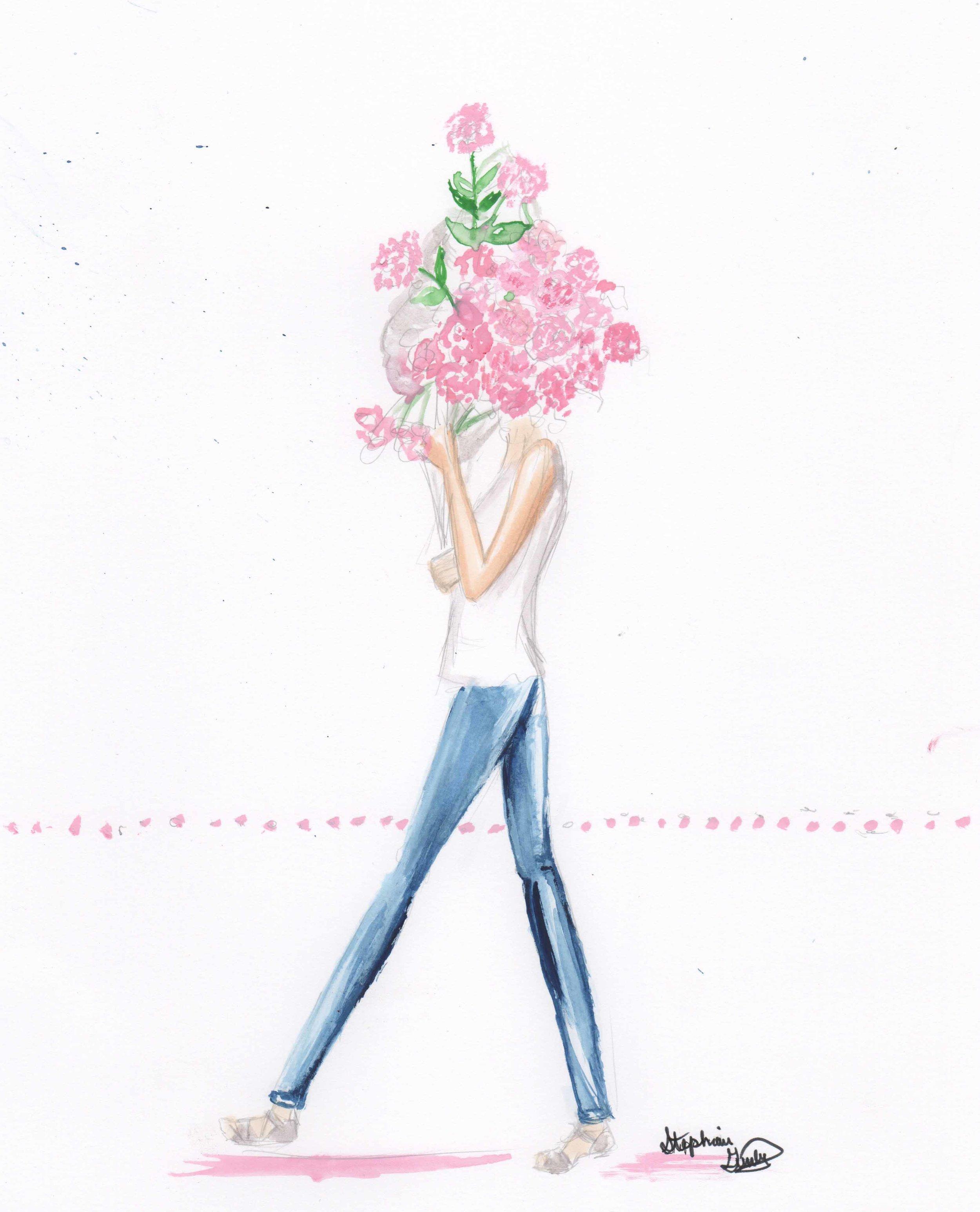 Flower Series Fashion Illustration