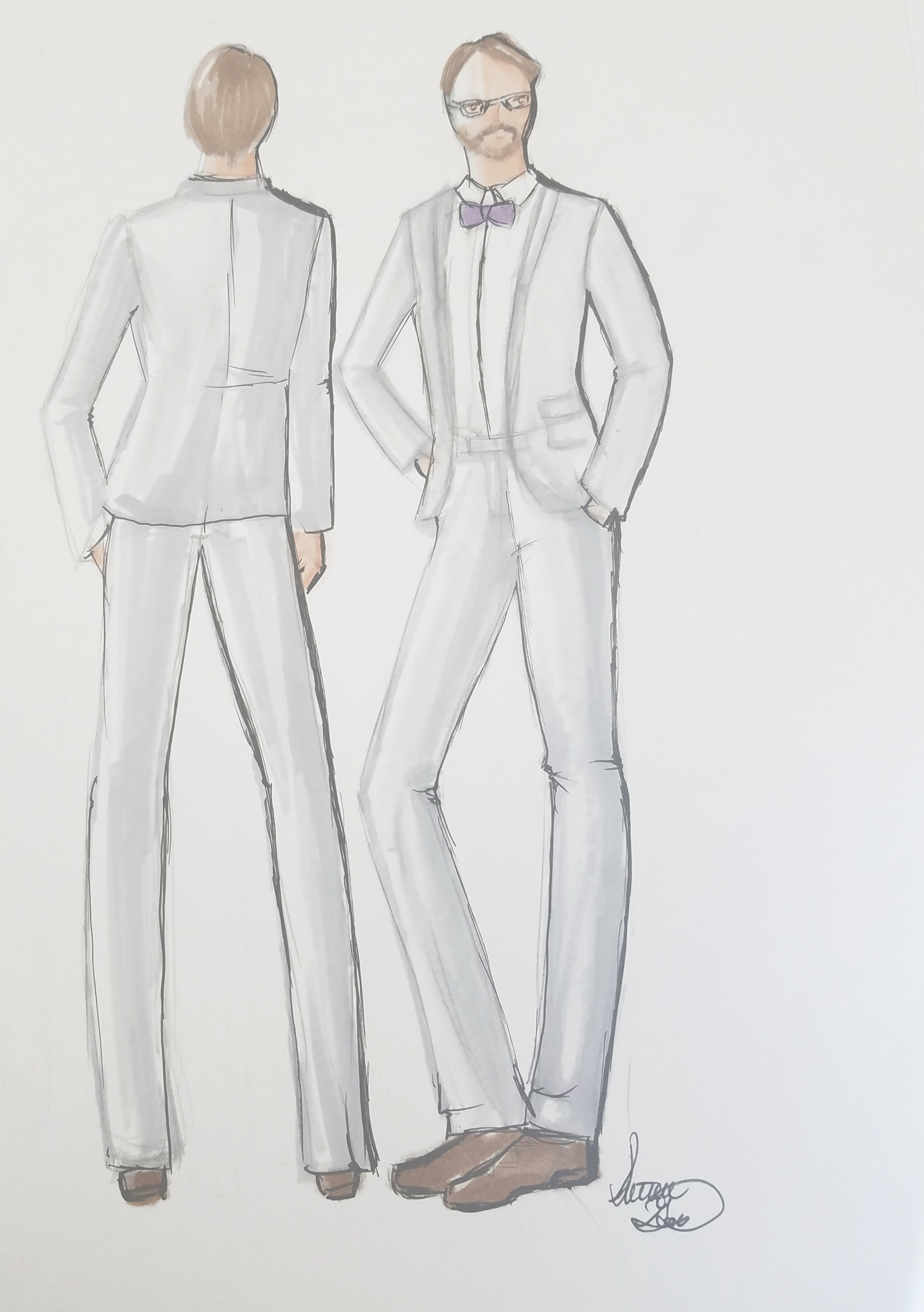 Men! Want a sketch of you and your wifey ! I can do one of you together or separate just like this pair here. The lovely lady to the right is apart of this set from a client request.