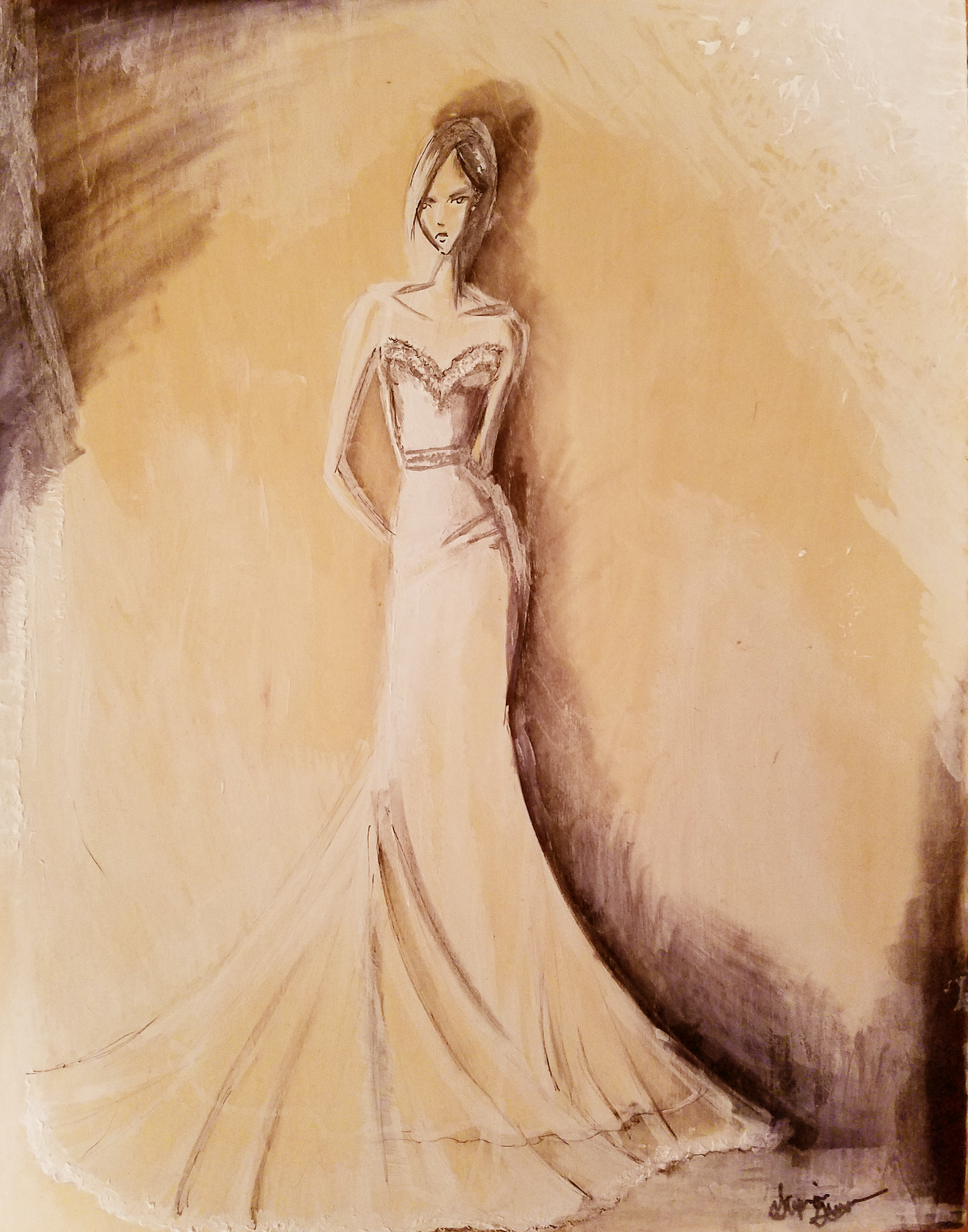 Event Inspiration: Mixed media on Birch wood Panel 11x14 or larger. Painting live at the wedding!