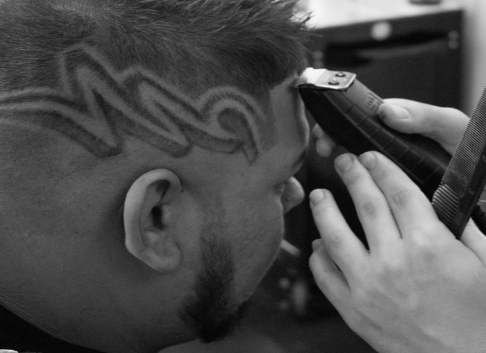 The cut & design STARTING AT $40 - SHOW YOUR PERSONALITYLet our barbers bring your unique personality to life with a clean cut and some bad ass design. Whether you know what you're going for, or you want to let our trend setting barbers give you a bit of guidance, our barbers will hook it up.Our blades are as sharp as their handlers, and believe us – there is nothing they can't handle.