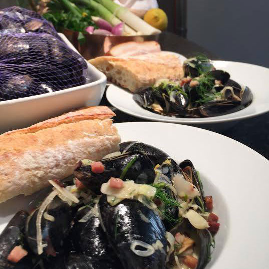 Mussels with Bacon + Anise Cream - WCSH's 207May 17, 2017