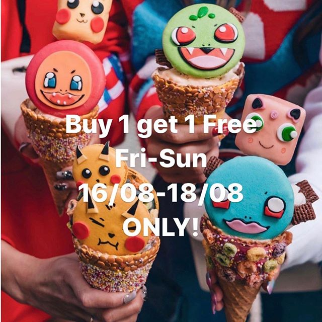 Buy 1 get 1 free. 16/08-18/08 Friday to Sunday Only. Don't miss out!