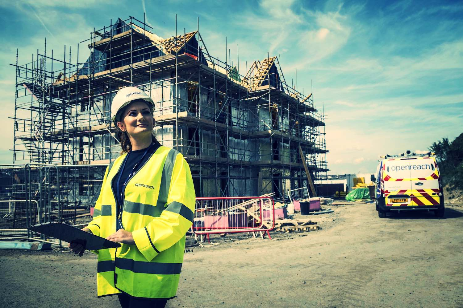 (Above) Cassie Bray, field-based coordinator at Openreach featured in Women in Trade's autumn 2017 issue (image by Openreach)