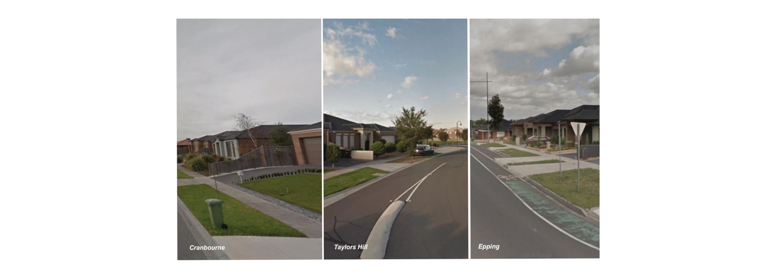 On the surface: Cranbourne, Taylors Hill, and Epping.