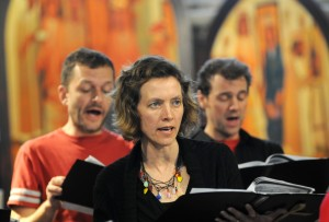 Some members of the Choir singing during a Sunday morning service