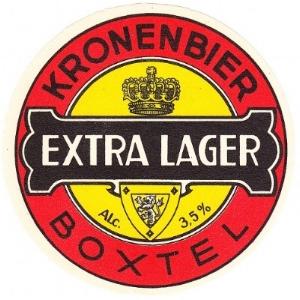 Het etiket van de flesjes van het bier wat vroeger gebrouwen werd.