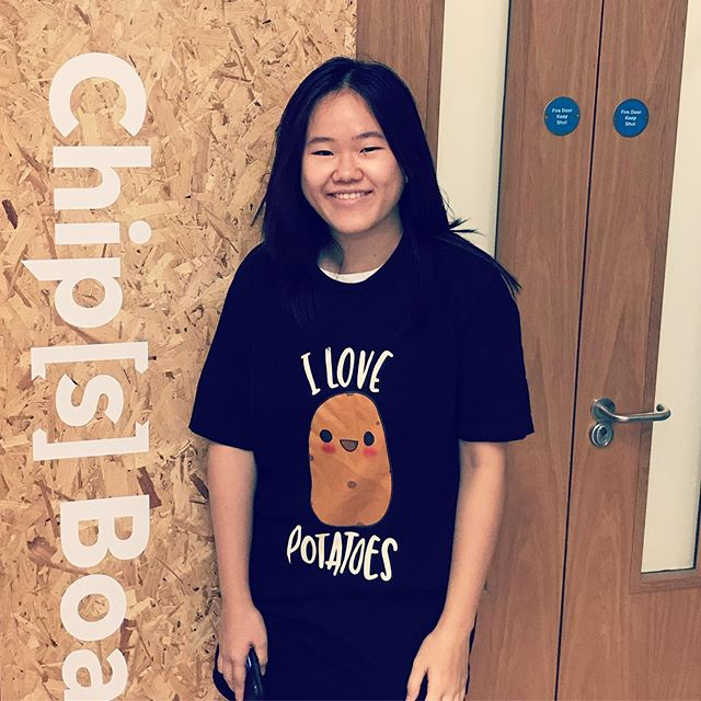We love our interns at Chip[s] Board. We were sad to say goodbye to the fantastic Serene recently. Thanks for all the hard work!  #chipsboard #sustainability #eco #innovation #design #fashion #vegan #plastic #bioplastic #future #potato
