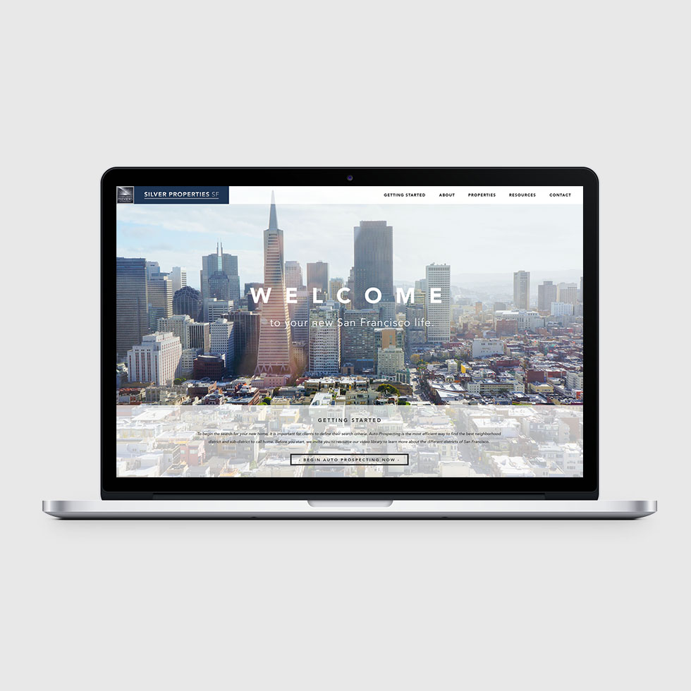 SILVER PROPERTIES SF WEBSITE   + View Project