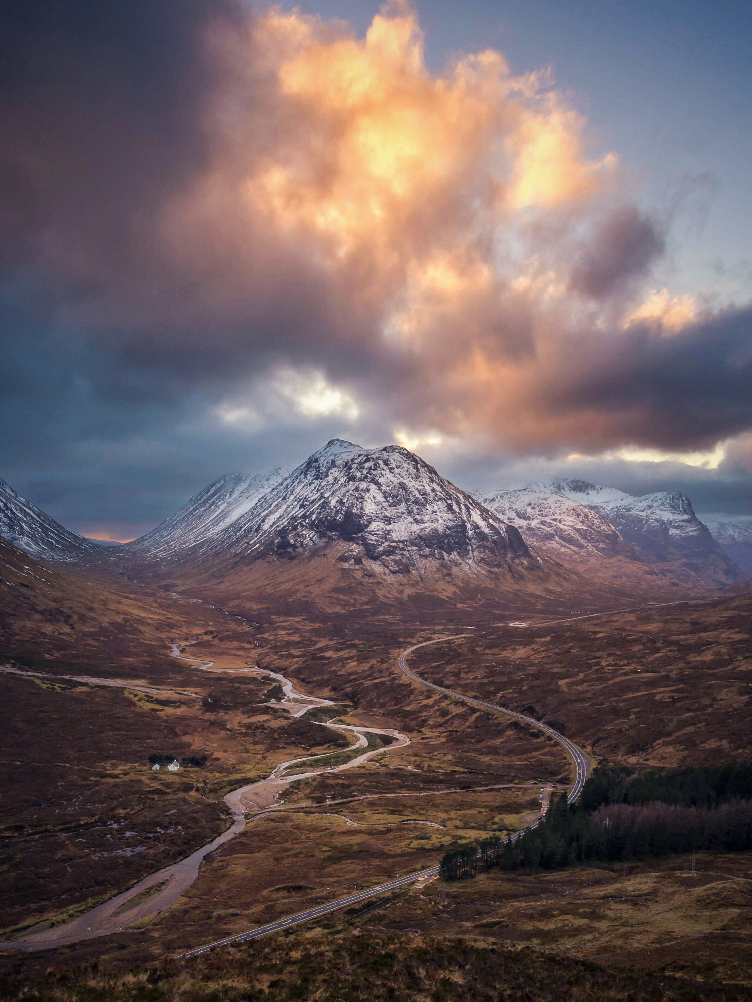 Favorite Image - Glencoe during an incredible sunset in the Scottish Highlands