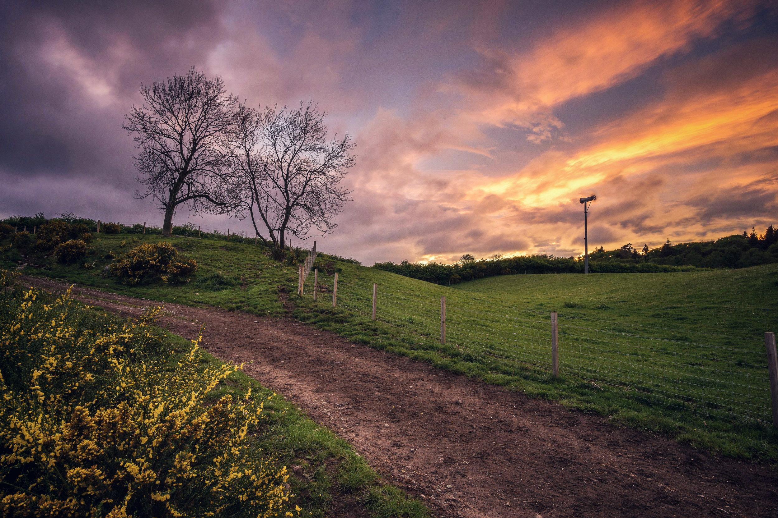 Local Sunset at Newton Dee Village