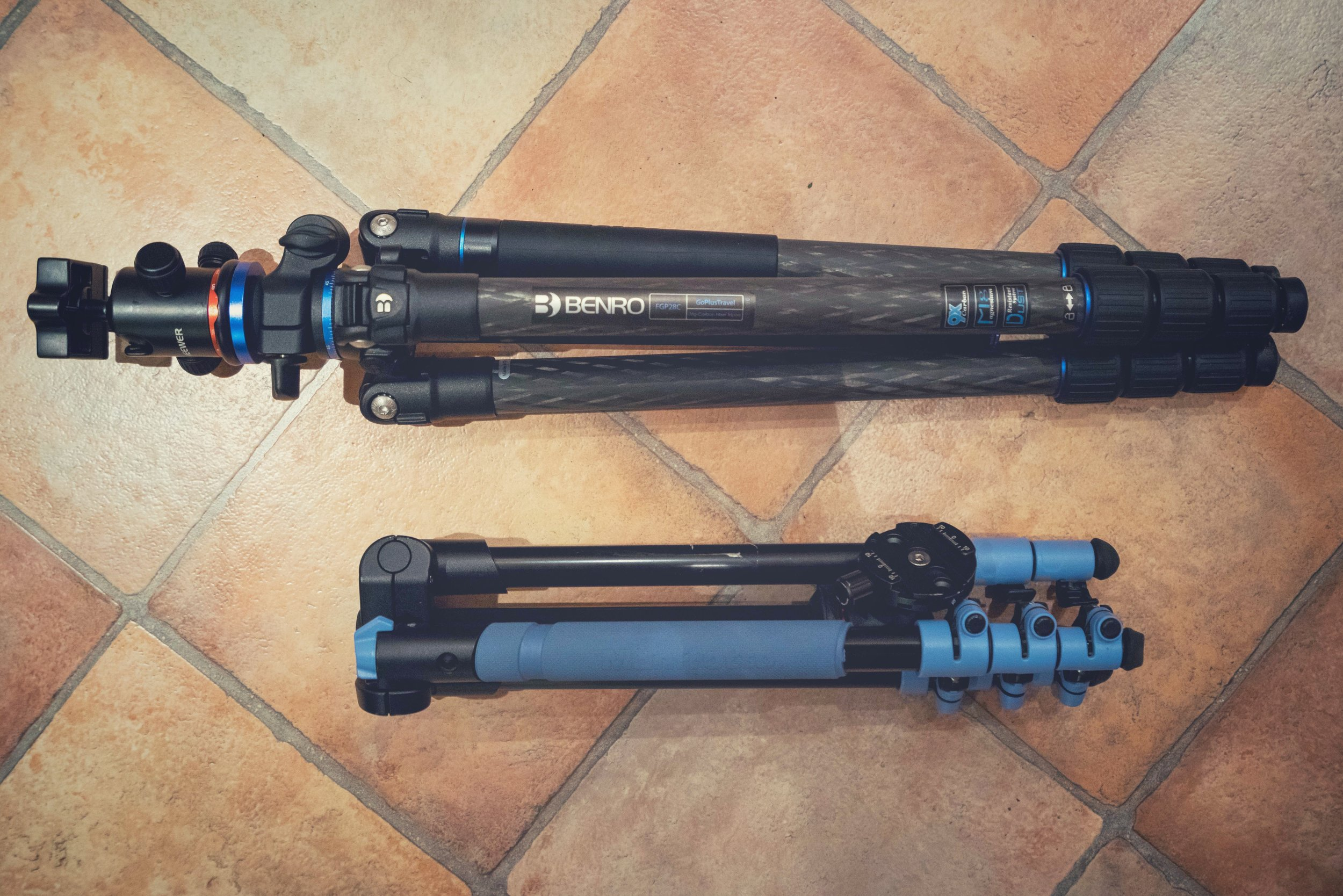 The Tripod - I am currently using a Benro GoPlus Travel FGP28C and a Manfrotto BeFree Travel.