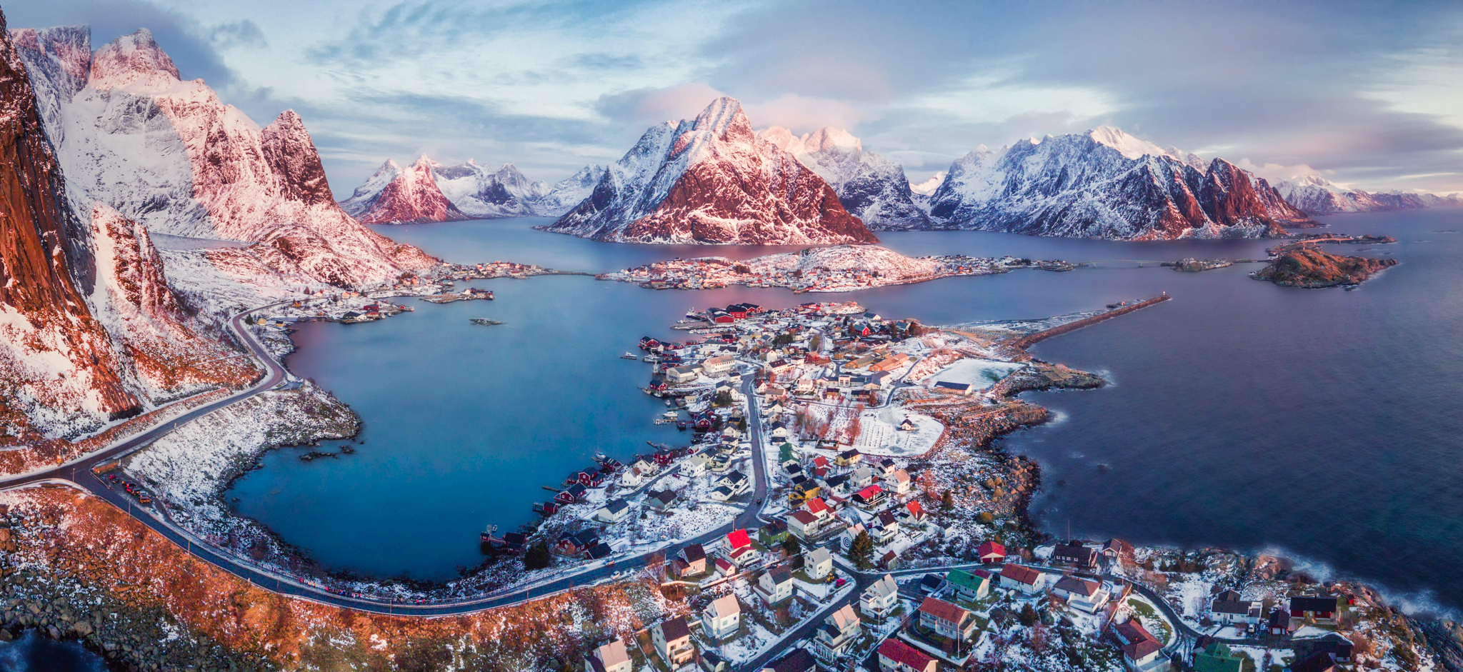 Lofoten from above.