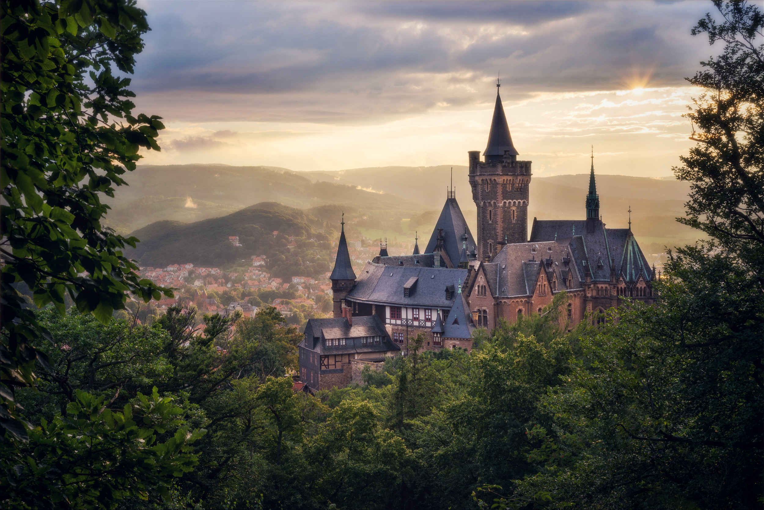 A beautiful castle overlooking Wernigerode in the Harz Mountains.
