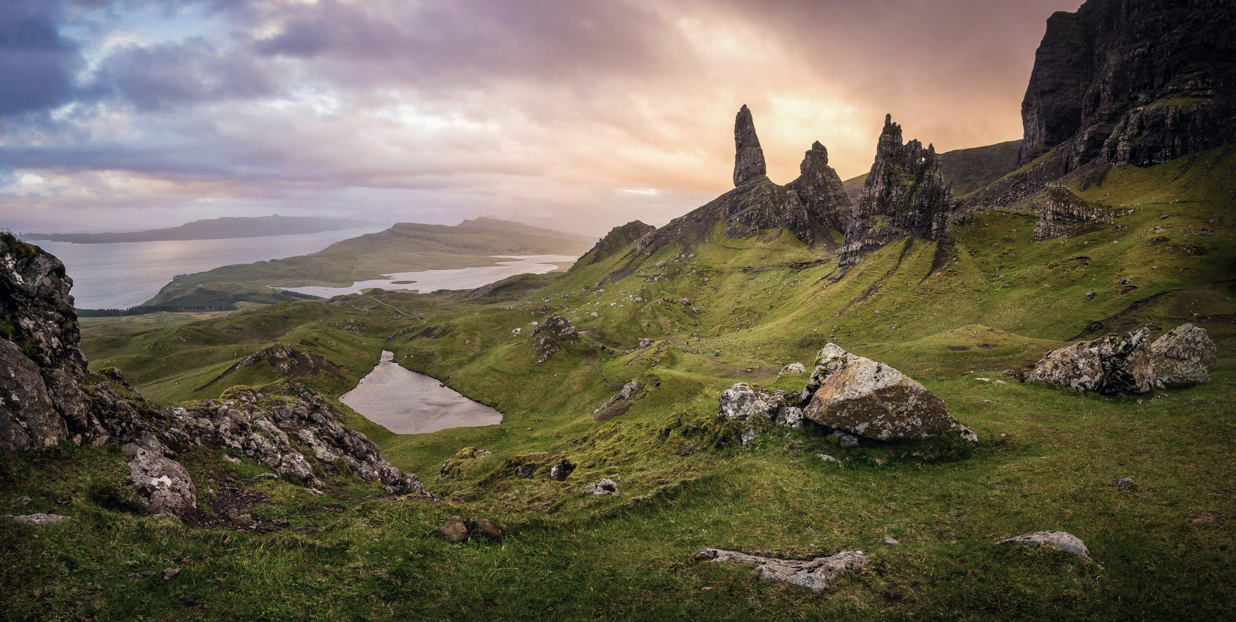 The mighty Old Man of Storr during a phenomenal sunrise in autumn