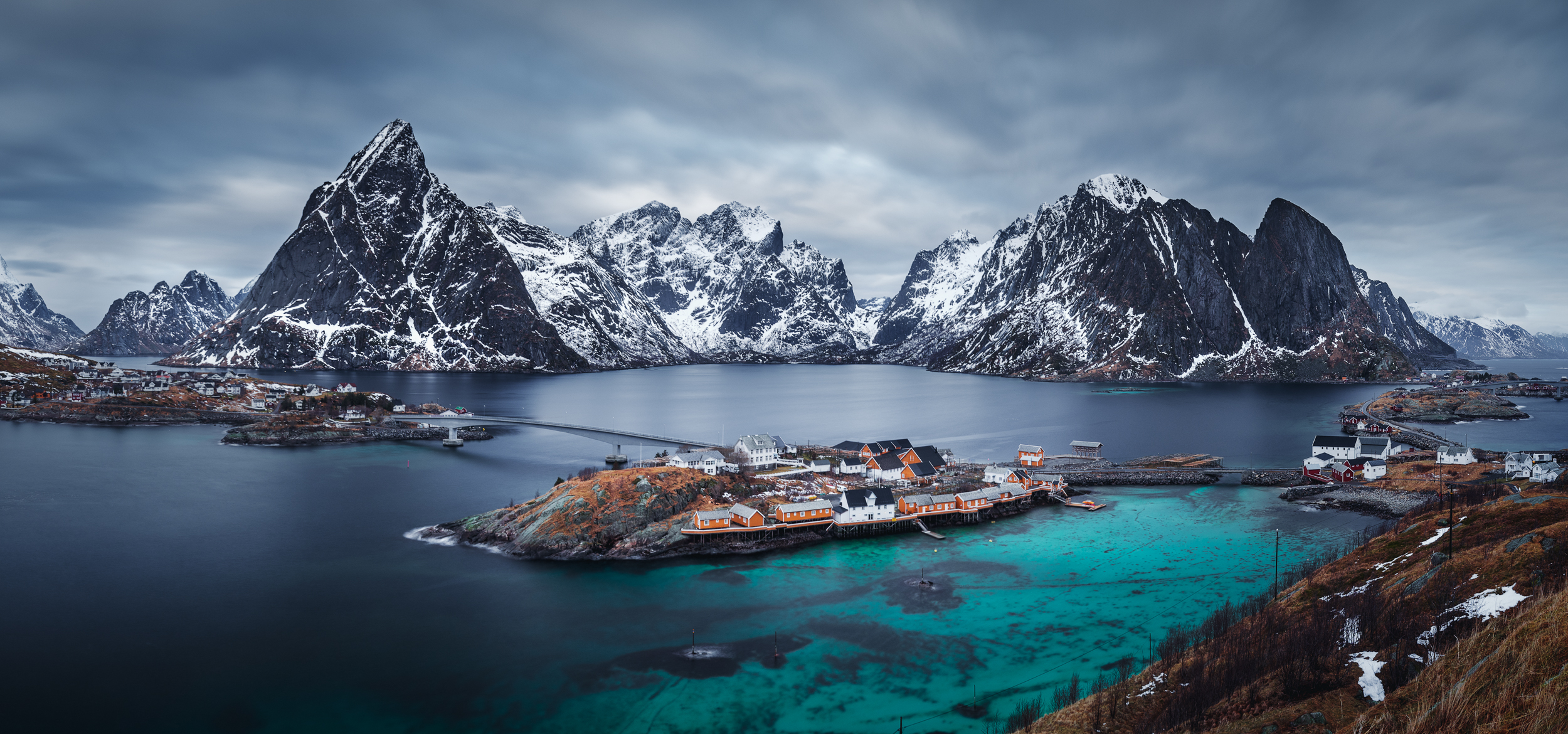 One of my favorite views of Reine Village and it's stunning mountain peaks.