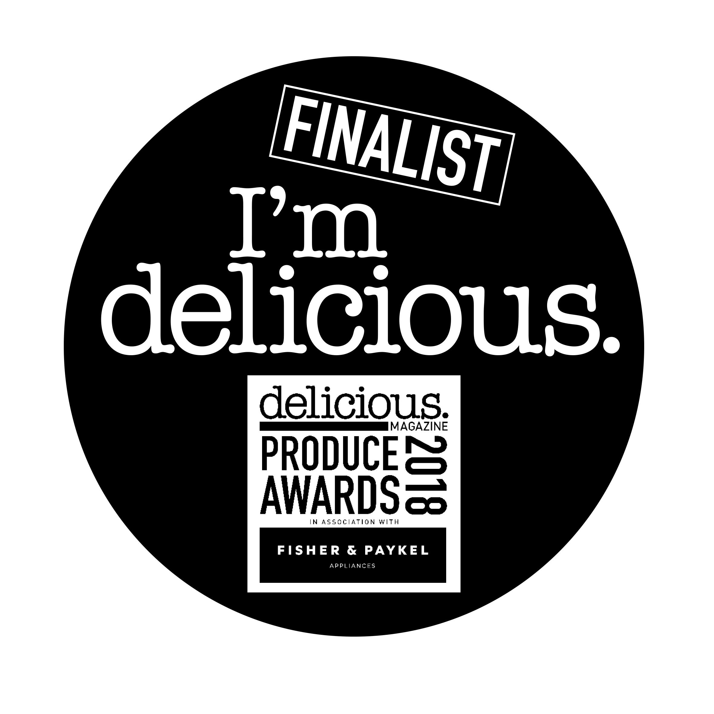 Delicious Magazine Produce Award Finalist 2018