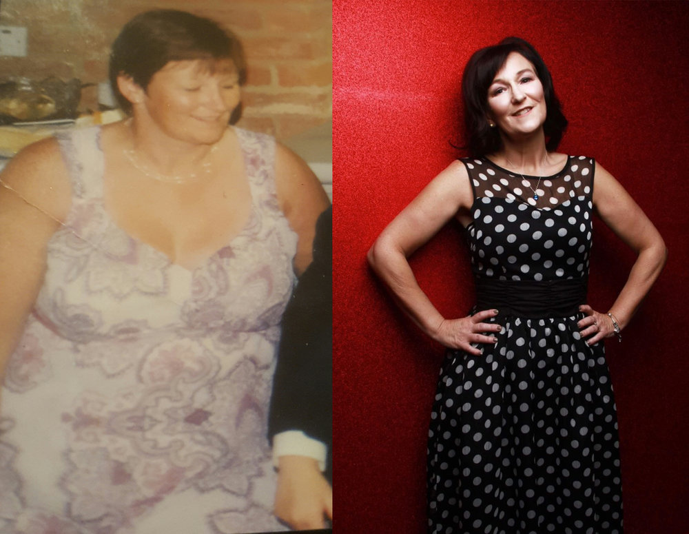 Before and after: Karen McLean.
