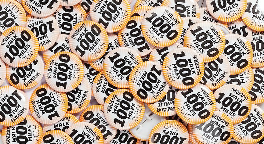 Badge fever has overtaken #walk1000miles 2018!