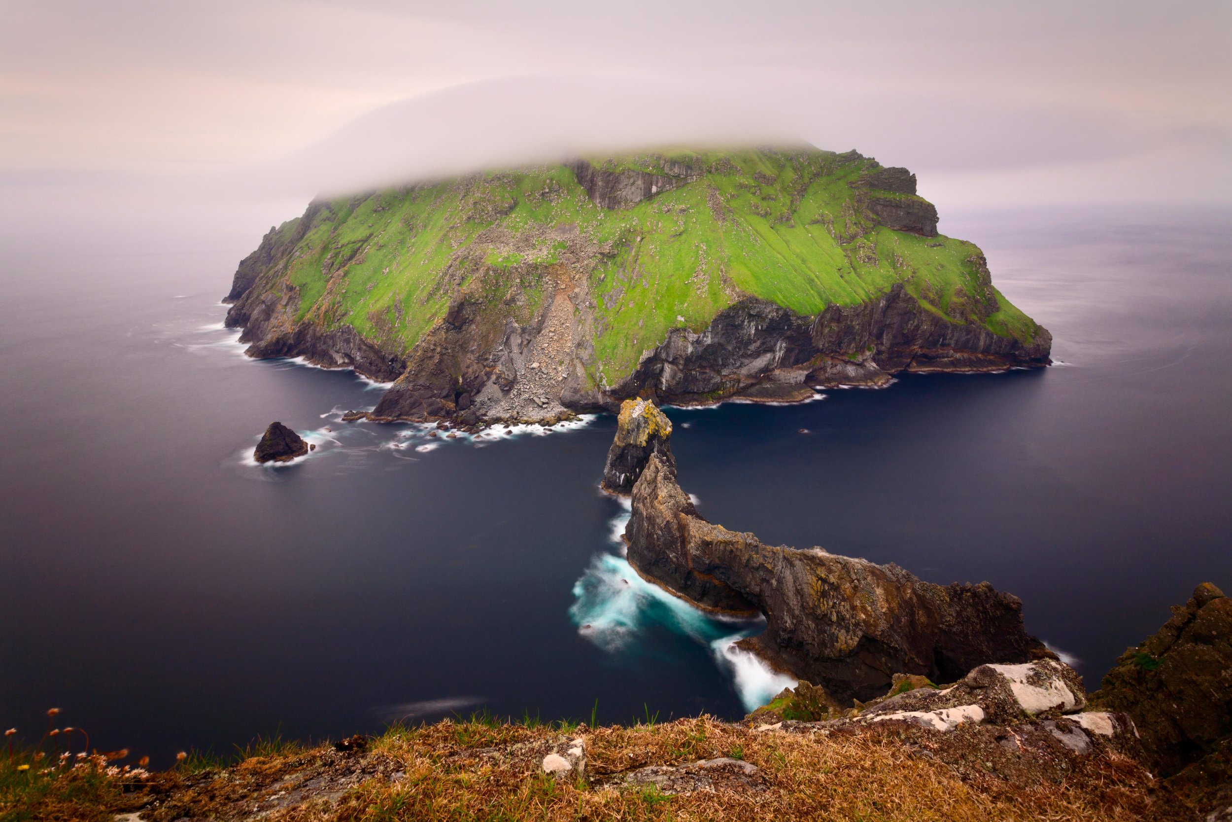 EFJMGE* The island of Soay as seen from the Cambir on Hirta, in the remote archipelago of St Kilda.jpg