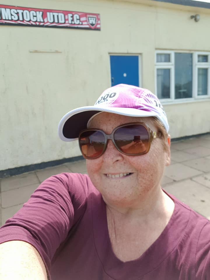 Out and about today testing out my new cap. Love it Michele Moore.jpg