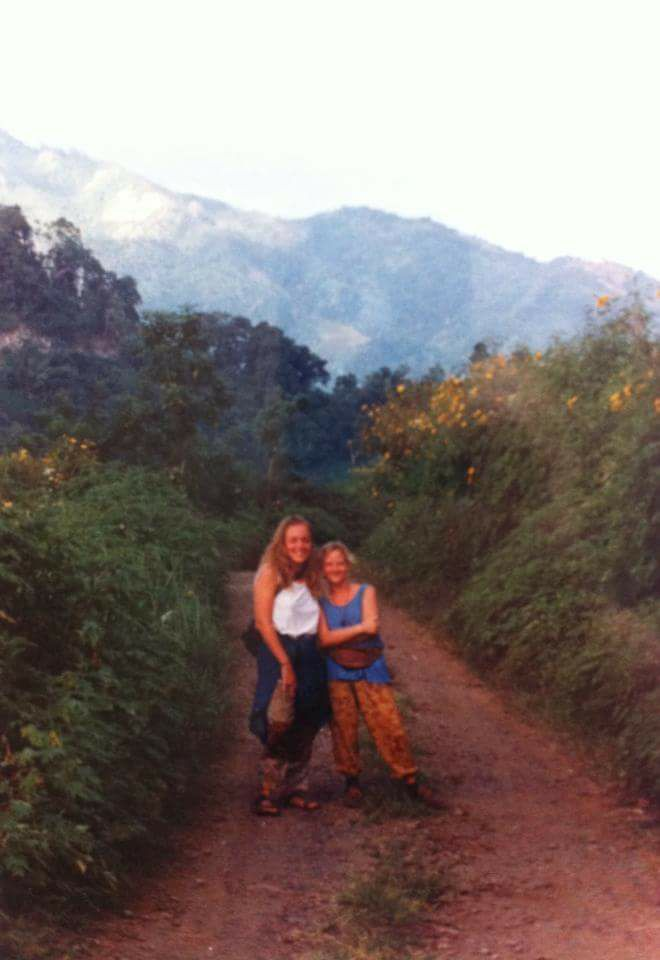 "Kath Wareing - ""1994 with my friend Nynke in Thailand."""