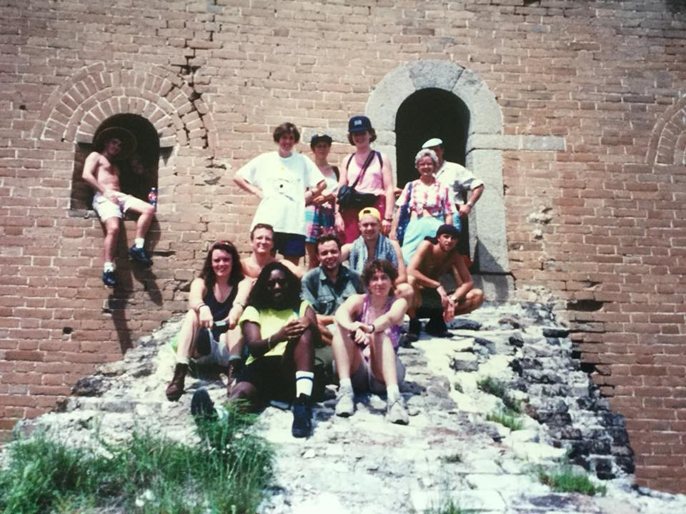 ... and walking an unrenovated part of the Great Wall in 1992""