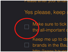 Make sure you tick this box or we can't send you updates!