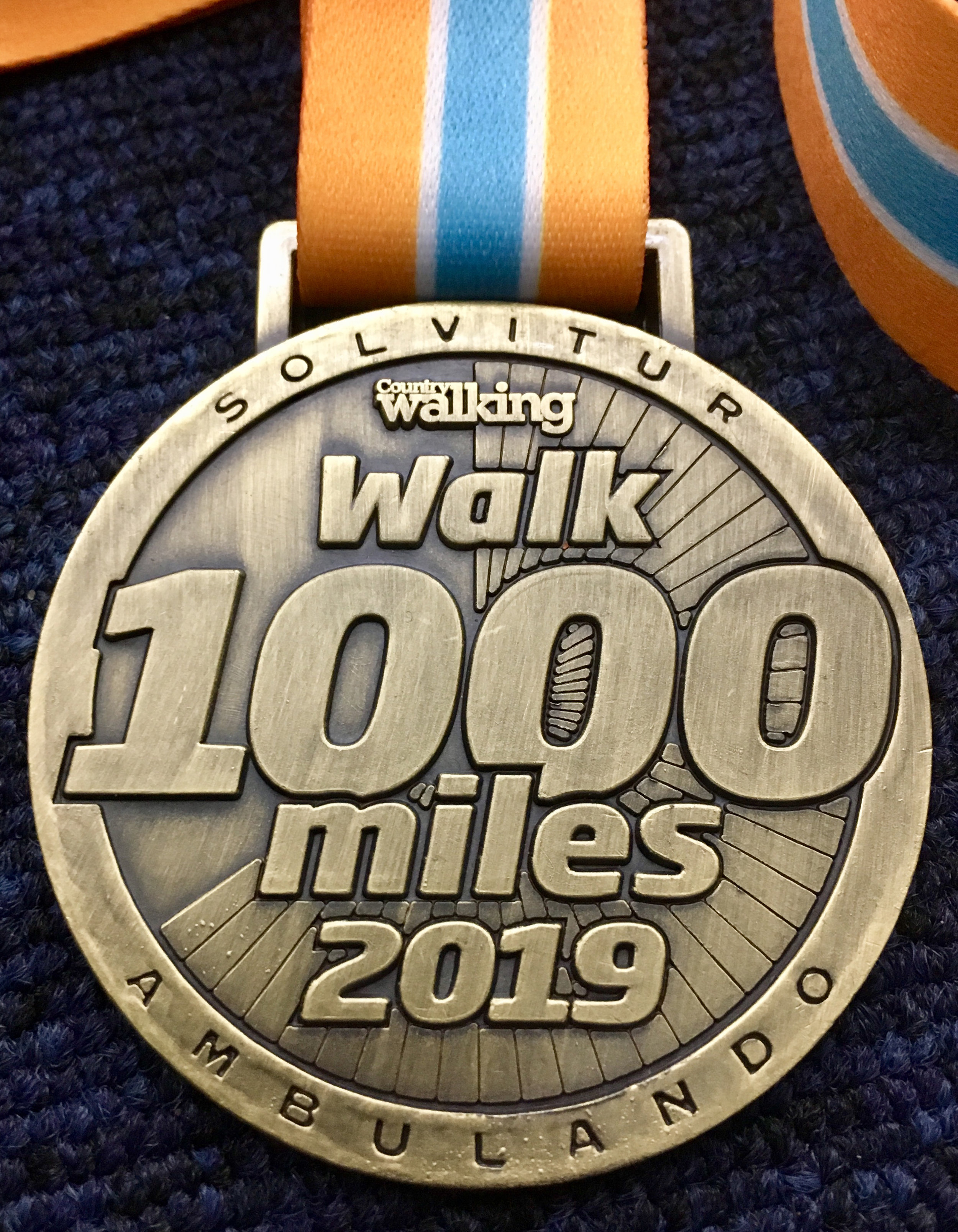 1000-mile completer medals this year will be finished in antique gold.
