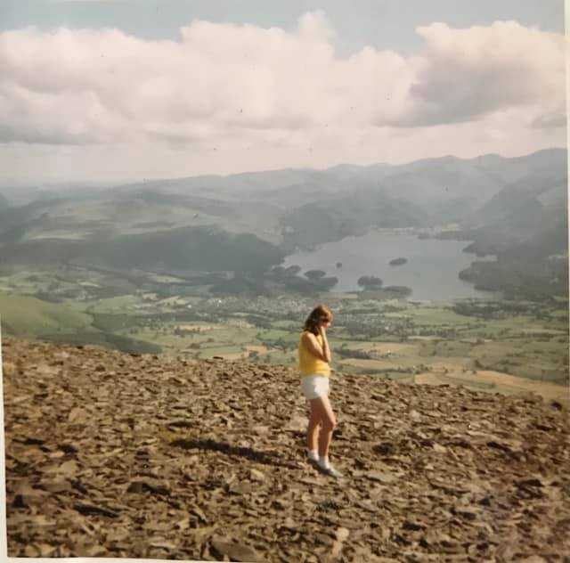 Christine Woods – This is me aged 17 in 1969 on Skiddaw. This was the first time I'd climbed a mountain and I just fell in love with the views. This walk started me on my love of walking and I joined the Liverpool Ramblers where I met my husband Charlie and together we have had so many great walking holidays in the UK, Switzerland, Austria and Bavaria.