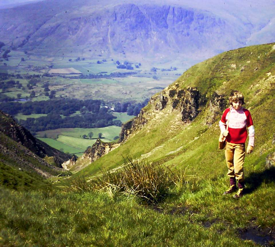 Mark Bennett – Me at the top of Greathall Gill Wasdale in a really snazzy jumper probably 1971.