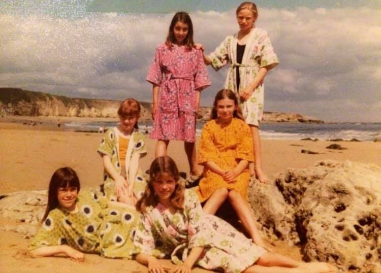 Joanne Burr – This was our school needlework class project: beach robes, so we had to be photographed wearing them on Marsden beach. I was absolutely rubbish at needlework.
