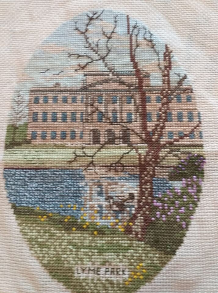 I can't draw or paint, but I sewed every stitch of this view of Lyme Hall, one of my favourite places to walk - Julie Moran