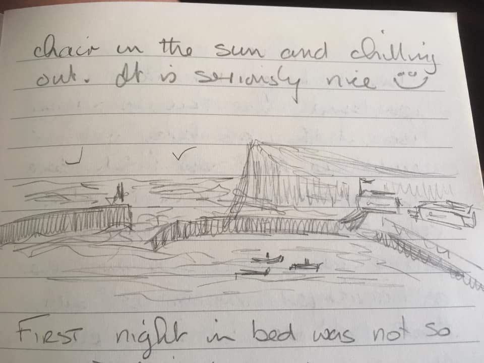 A wee sketch l did while walking in Staithes – Jackie Wilson