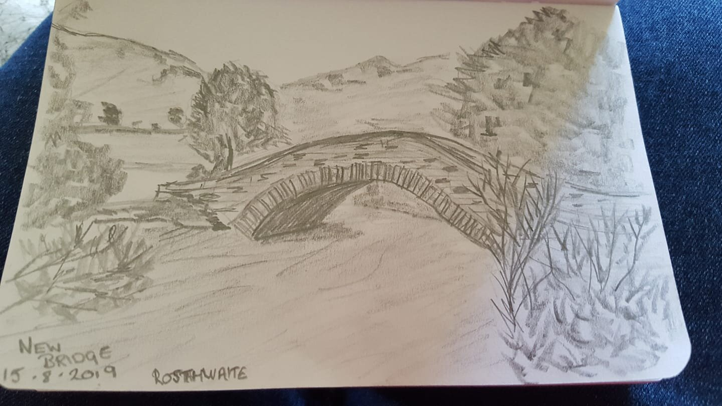 This is the New Bridge on the way up to Castle Crag from Rosthwaite. It's a beautiful little bridge - Mandy Proud