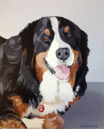 """Buddy"", acrylic on canvas, 11"" x 14"""