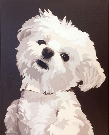 """""""Martin"""", acrylic on canvas, 11"""" x 14"""""""