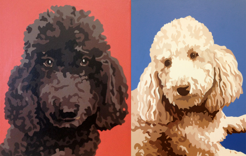 Portraits of Bob and Will...Nell's older brothers (copyright 2012 Nina Davidowitz)
