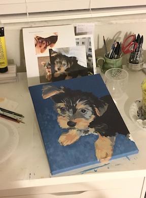 Portrait of Nell in progress