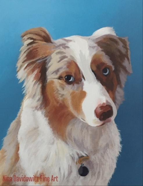 """Portrait of Gracie"", acrylic on canvas, 11"" x 14"", 2017"